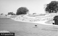 Old Sarum, Castle 1951