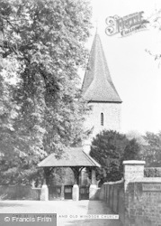 Old Windsor, Church And Lych Gate c.1960