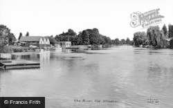 Old Windsor, The River c.1960