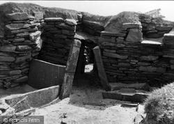 Orkney, Doorway, Hut 2, Skara Brae 1954, Orkney Islands