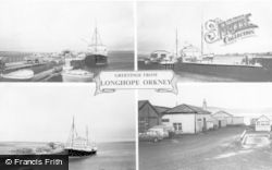 Orkney, Greetings From Longhope Composite c.1960, Orkney Islands