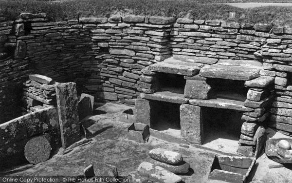 Photo of Orkney, Hut 1 Skara Brae 1954