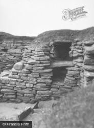 Orkney, Hut 5, Skara Brae c.1958, Orkney Islands