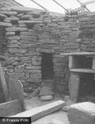 Orkney, Hut 7, Cell Entrance, Skara Brae c.1958
