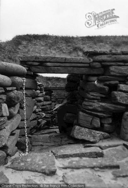 Photo of Orkney, Main Passage, Skara Brae 1954