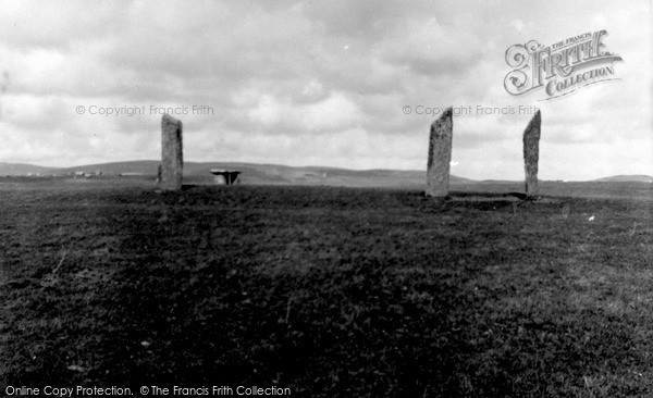 Photo of Orkney, Stones Of Stenness 1958