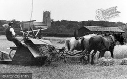 Ormesby St Margaret, Horse Drawn Harvester c.1930