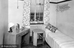 A Student's Room, Edge Hill College c.1955, Ormskirk