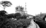Ormskirk, Church of St Peter and St Paul from the south west 1894