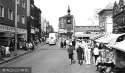 Market And Clock Tower c.1965, Ormskirk