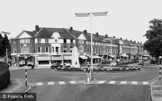 Orpington, the War Memorial and High Street c1960