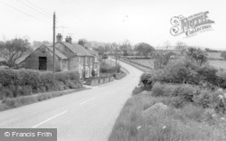 Belle Vue Cottages, Approaching From The West c.1965, Osmotherley