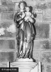 Osmotherley, Statue Of Our Lady, Lady Chapel, Mount Grace c.1965