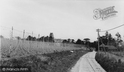 Ospringe, Church And Hop Fields c.1960