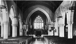 Parish Church Interior c.1939, Oswestry