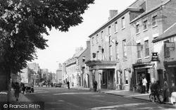 The Wynnstay Hotel And Church Street c.1955, Oswestry