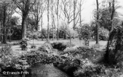 Otford, Manor, The Water Garden c.1955