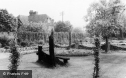 Otford, The Stocks And Whipping Post c.1955
