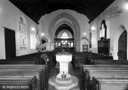 Othery, The Church, Interior c.1955