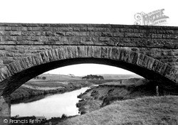 Otterburn, River Rede And Bridge c.1955