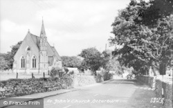 Otterburn, St John's Church c.1955