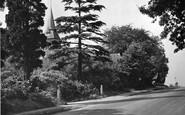 Ottershaw, the Parish Church, Church Hill c1955