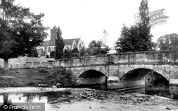 Otterton, Church And Bridge 1890