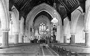 Otterton, Church interior 1907