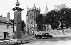 St Mary's Church 1938, Ottery St Mary