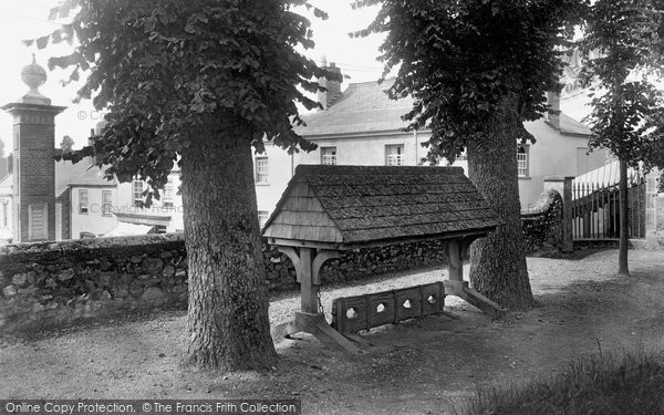 Ottery St Mary, Stocks in Churchyard 1922
