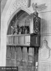 The Clock, Church Interior 1907, Ottery St Mary