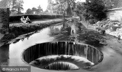 The Weir Pool c.1955, Ottery St Mary