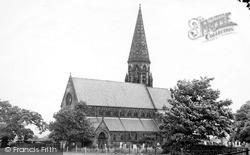 St Peter's Church c.1955, Oughtrington