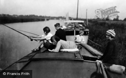 Oulton Broad, Boating On The River c.1939