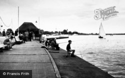 Oulton Broad, Fishing On The Quay c.1955