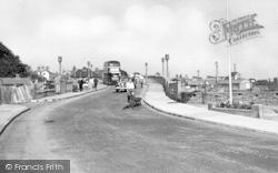 Oulton Bridge c.1955, Oulton Broad