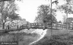 Oulton Broad, Rustic Bridge c.1955