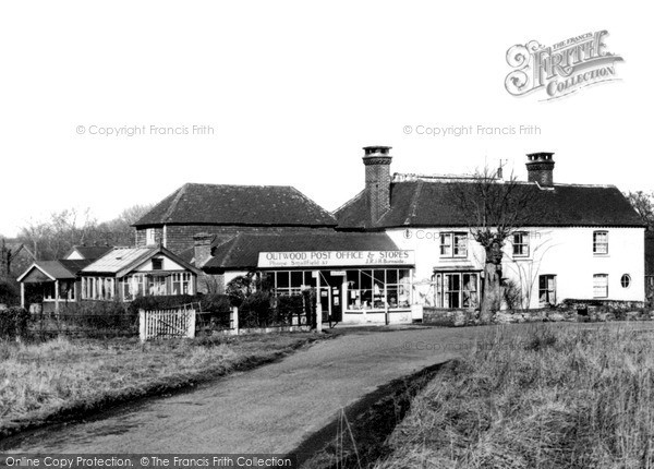Photo of Outwood, The Post Office c.1955