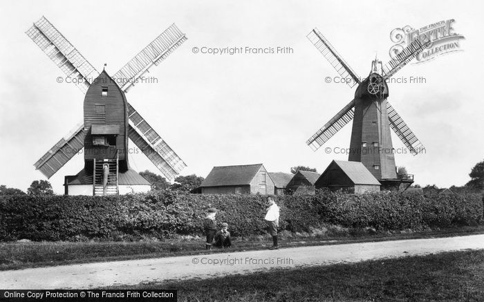 Outwood,the Windmills 1906,Surrey