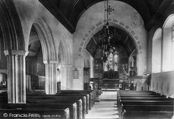 Church Interior 1903, Over Stowey