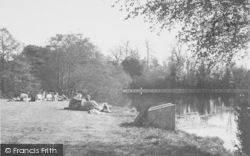 Overstone, Lake Side, Overstone Park c.1955