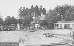 Overstone, The Swimming Pool c.1955