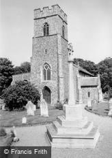Overstrand, St Martin's Church and War Memorial c1960