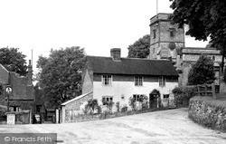 Oving, All Saints Church And Black Boy Inn c.1955