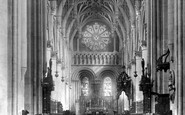 Oxford, Christ Church Cathedral, The Nave 1890