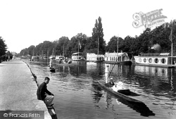Oxford, College Barges 1922