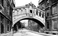 Oxford, Hertford College Bridge 1922