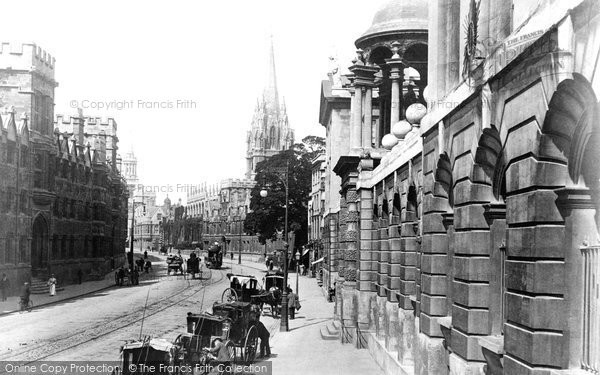 Photo Of Oxford High Street 1900 Francis Frith