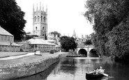 Oxford, Magdalen College And River Cherwell 1947