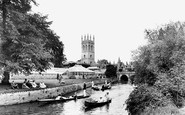Oxford, Magdalen College From River Cherwell 1922